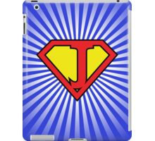 J letter in Superman style iPad Case/Skin