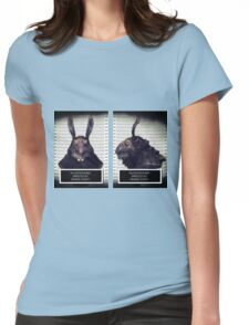 Evil Easter Bunny Rabbit Womens Fitted T-Shirt