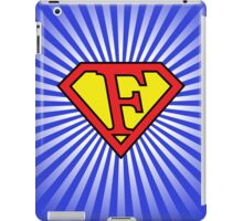 F letter in Superman style iPad Case/Skin