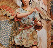 Angel at San Xavier Mission by ozwille