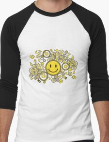 Happy_Music Men's Baseball ¾ T-Shirt