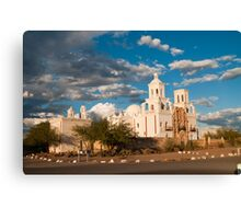Sunset at San Xavier Mission Canvas Print