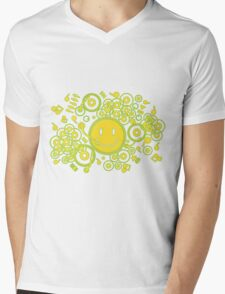 Happy_Music Mens V-Neck T-Shirt