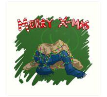 221B Christmas Art Print