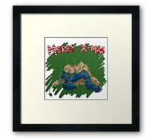 221B Christmas Framed Print