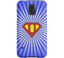 U letter in Superman style Samsung Galaxy Case/Skin