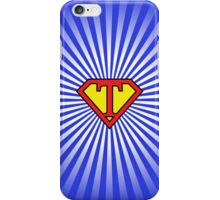 T letter in Superman style iPhone Case/Skin