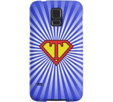 T letter in Superman style Samsung Galaxy Case/Skin