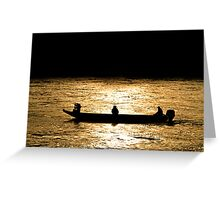 Danube boaters Greeting Card