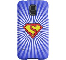 S letter in Superman style Samsung Galaxy Case/Skin