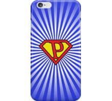 P letter in Superman style iPhone Case/Skin
