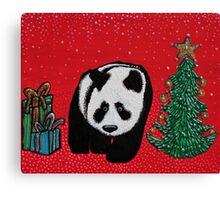 A Panda For Christmas Canvas Print