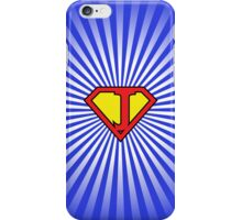 J letter in Superman style iPhone Case/Skin