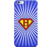 H letter in Superman style iPhone Case/Skin