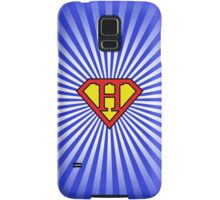 H letter in Superman style Samsung Galaxy Case/Skin
