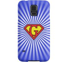 G letter in Superman style Samsung Galaxy Case/Skin