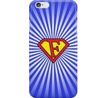 F letter in Superman style iPhone Case/Skin