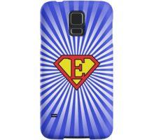 E letter in Superman style Samsung Galaxy Case/Skin