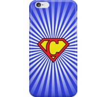 C letter in Superman style iPhone Case/Skin