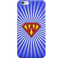 W letter in Superman style iPhone Case/Skin