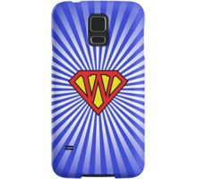 W letter in Superman style Samsung Galaxy Case/Skin