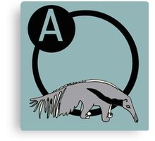 A is for...Anteater Canvas Print