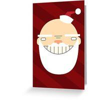Santa Creep #1, Red Background Greeting Card