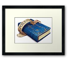 Spoilers, River Song's Tardis Journal Framed Print