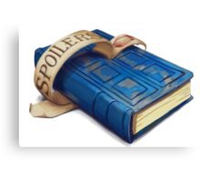 Spoilers, River Song's Tardis Journal Canvas Print