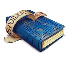 Spoilers, River Song's Tardis Journal Photographic Print