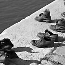 Shoes on the Danube Promenade by Thad Zajdowicz
