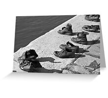 Shoes on the Danube Promenade Greeting Card
