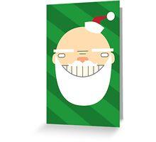 Santa Creep #1, Green Background Greeting Card