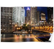 Chicago - Michigan Avenue Bridge Poster