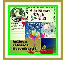 Christmas wish list Photographic Print