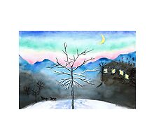 Snowy Winter Evening with a Frame by Almonda