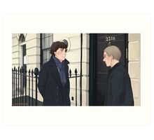The Address is 221B Baker Street Art Print