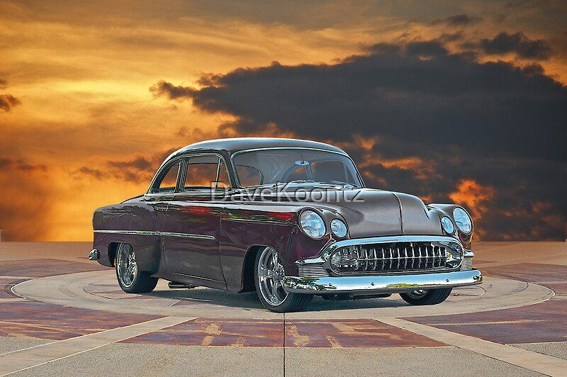 Quot 1953 Chevrolet Custom Bel Air Quot By Davekoontz Redbubble