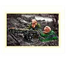 wartime : target practice Art Print