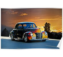 1940 Ford '4D Fun' Deluxe Coupe Poster
