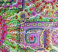 Doodlin' Mixed Media Art by chongolio