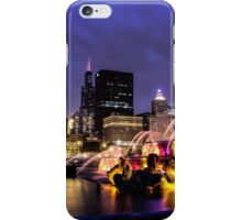 Chicago Skyline - Buckingham Fountain - Lightning iPhone Case/Skin