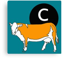 C is for...Cow Canvas Print