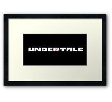 Undertale Journey Items Framed Print