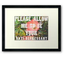 anti-depressant Framed Print