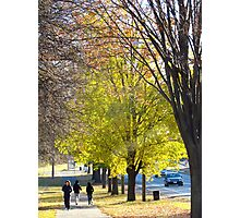 Autumn stroll in New York City  Photographic Print
