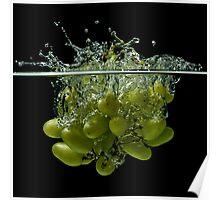 Splashing grapes Poster