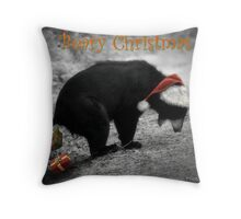 Beary Christmas Throw Pillow