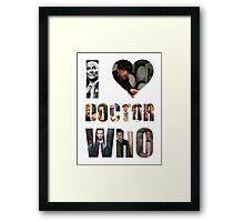 I *Heart* Doctor Who Framed Print