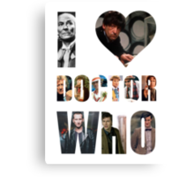 I *Heart* Doctor Who Canvas Print